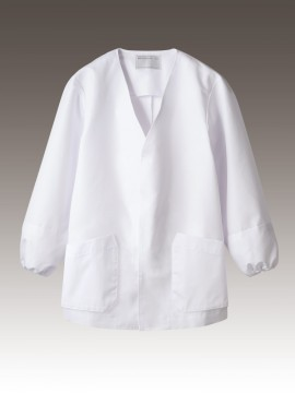 CK-1951 調理衣(長袖・袖口ネット) 拡大画像