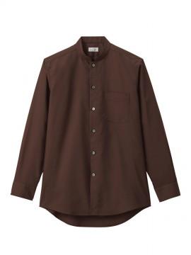 BM-FB5051M メンズスタンドカラー長袖シャツ 拡大画像 ブラウン