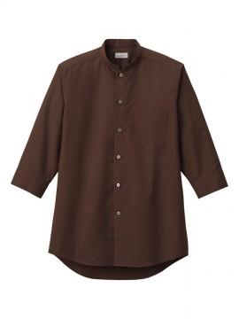 BM-FB5052M メンズスタンドカラー七分袖シャツ 拡大画像 ブラウン