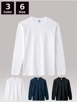 BM-MS1611 6.2オンスヘビーウェイトロングスリーブTシャツ (ポリジン加工)